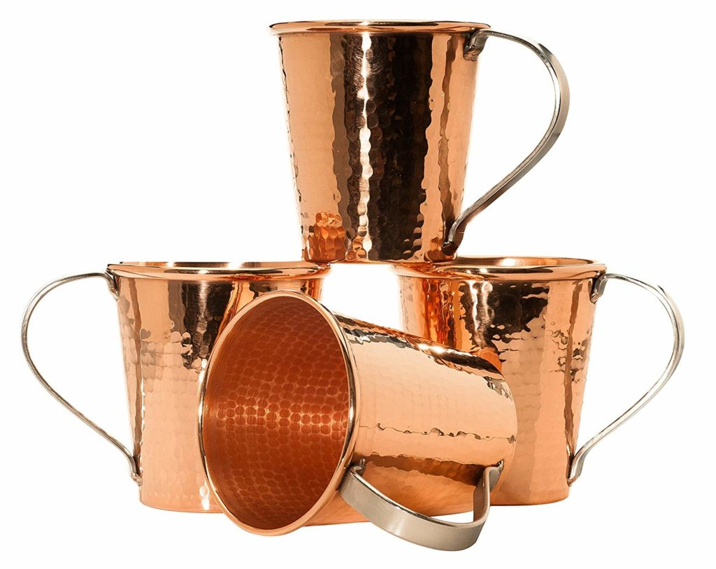Sertodo Copper Moscow Mule Mug Set