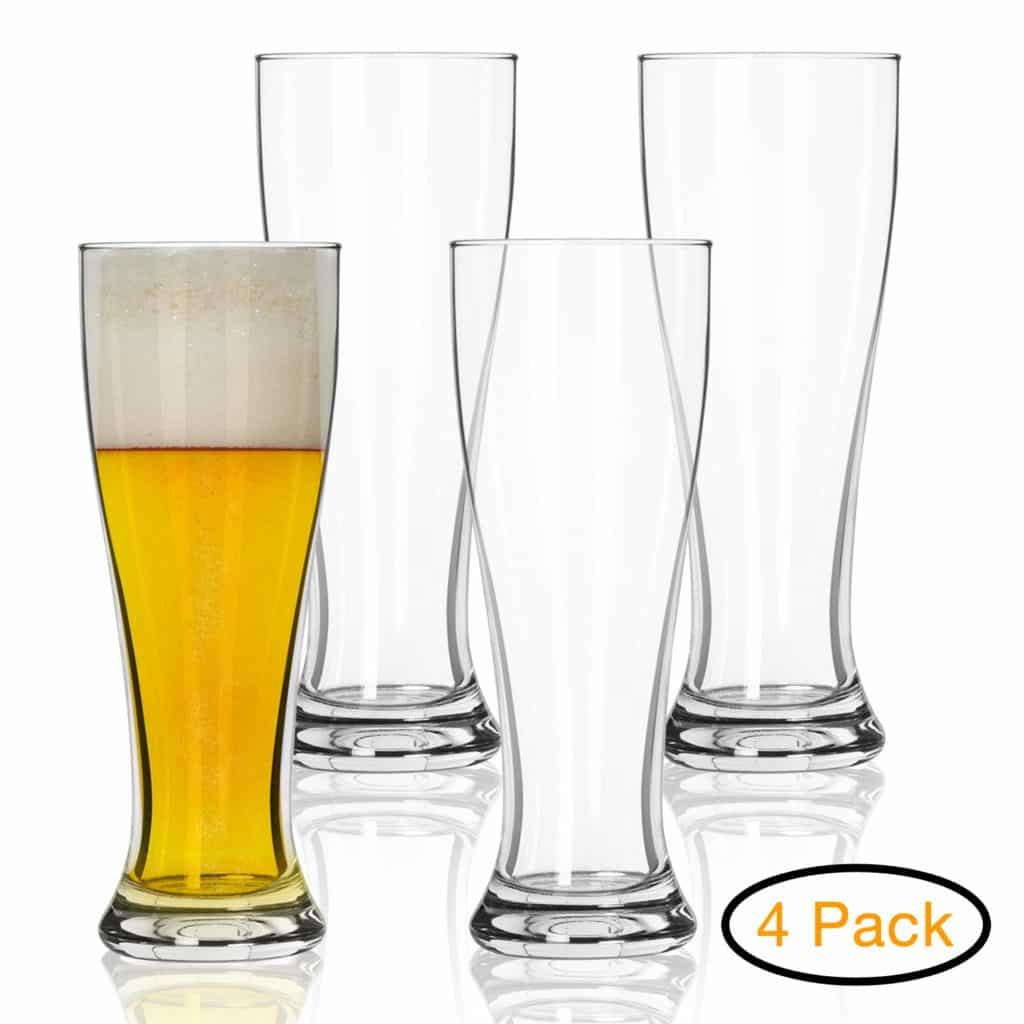 Nucleated Pilsner Glasses