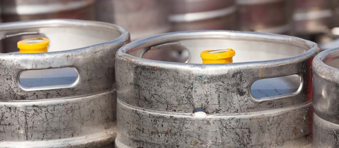How many pints are in a keg